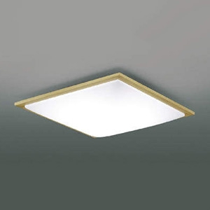 コイズミ照明 LEDシーリングライト 《SQUOOD》 ~8畳用 調光・調色タイプ 電球色~昼光色 リモコン付 ナチュラルウッド AH48908L