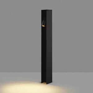 コイズミ照明 LEDエクステリアポールライト 防雨型 フロアウォッシュタイプ 700mmタイプ 白熱球40W相当 電球色 サテンブラック AU49054L