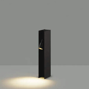 コイズミ照明 LEDエクステリアポールライト 防雨型 フロアウォッシュタイプ 400mmタイプ 白熱球40W相当 電球色 サテンブラック AU49056L
