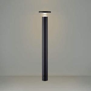コイズミ照明 LEDエクステリアポールライト 防雨型 700mmタイプ 電球色 サテンブラック AU49064L