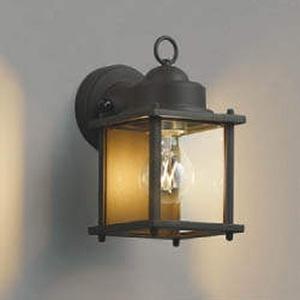 コイズミ照明 LEDポーチ灯 防雨型 白熱球40W相当 電球色 錆 AU49075L