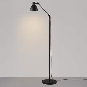 コイズミ照明 LEDフロアスタンドライト 《Arm Light》 白熱球60W相当 電球色 スイッチ付 黒 AT49288L