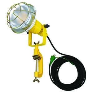 日動工業 作業用LED投光器 水銀灯(レフ球)200W相当 ワイドタイプ 高演色LED電球 ハイスペックエコビック14W 昼白色 口金E26 電線10m ポッキンプラグ ATL-E1410-5000K