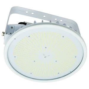 日動工業 高天井用LED器具 ハイスペックハイディスク200W アーム式(吊下げ型) 水銀灯1000W相当 昼白色 電源装置一体型 ワイドタイプ クリア L200V2-P-HW-50K-N