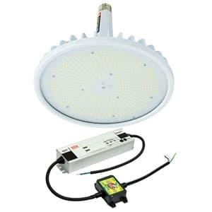 日動工業 高天井用LED器具 ハイスペックハイディスク200W 口金式 水銀灯1000W相当 昼白色 直流電源装置外付け型 ワイドタイプ 口金E39 クリア L200V2-E39-HW-50K-N