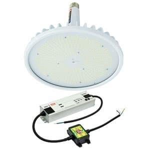 日動工業 高天井用LED器具 ハイスペックハイディスク300W 口金式 HID1000W相当 昼白色 直流電源装置外付け型 ワイドタイプ 口金E39 クリア L300V2-E39-HW-50K-N