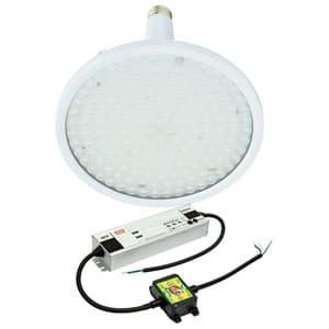 日動工業 高天井用LED器具 ハイディスク150W 口金式 高効率タイプ HID400W相当 昼白色 直流電源装置外付け型 スポットタイプ 口金E39 クリア L150V2-E39-HS-50K