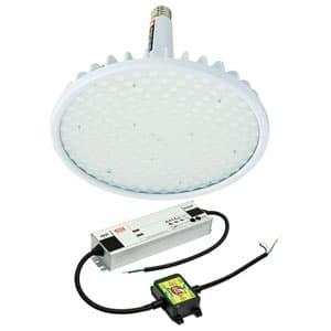 日動工業 高天井用LED器具 ハイディスク200W 口金式 高効率タイプ 水銀灯700W相当 昼白色 直流電源装置外付け型 スポットタイプ 口金E39 クリア L200V2-E39-HS-50K