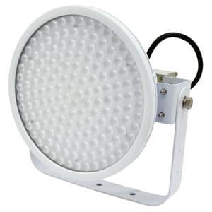 日動工業 LED投光器 ハイディスク100W 高効率タイプ 水銀灯400W相当 昼白色 電源装置一体型 スポットタイプ 電線ポッキンプラグ5m付 クリア L100V2-D-HS-50K