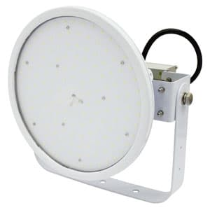 日動工業 LED投光器 ハイディスク150W 高効率タイプ HID400W相当 昼白色 電源装置一体型 ワイドタイプ 電線ポッキンプラグ5m付 クリア L150V2-D-HW-50K