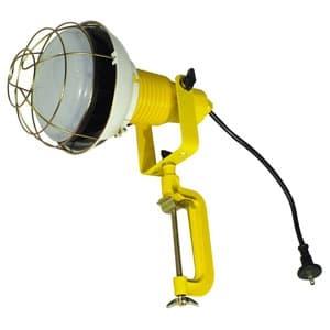 日動工業 作業用LED投光器 バラストレス水銀灯500W相当 ワイドタイプ 高演色LED電球 ハイスペックエコビック50W 昼白色 口金E39 電線0.3m 防雨2Pプラグ バイス付 ATL-5000J