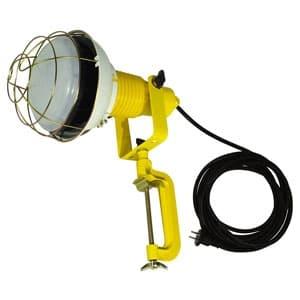 日動工業 作業用LED投光器 バラストレス水銀灯500W相当 ワイドタイプ 高演色LED電球 ハイスペックエコビック50W 昼白色 口金E39 電線5m 防雨2Pプラグ バイス付 ATL-5005J