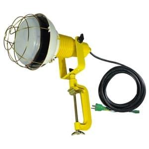 日動工業 作業用LED投光器 バラストレス水銀灯500W相当 ワイドタイプ 高演色LED電球 ハイスペックエコビック50W 昼白色 口金E39 電線5m ポッキンプラグ バイス付 ATL-E5005J