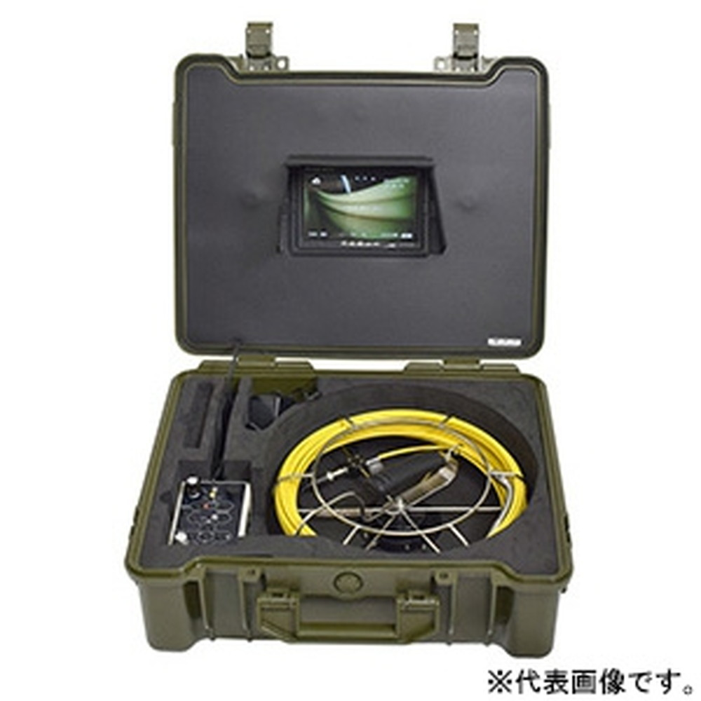 サンコー 極細配管用スコープ カメラ先端径φ12mm ケーブル長20m メーターカウンター付 SLIMHISC21