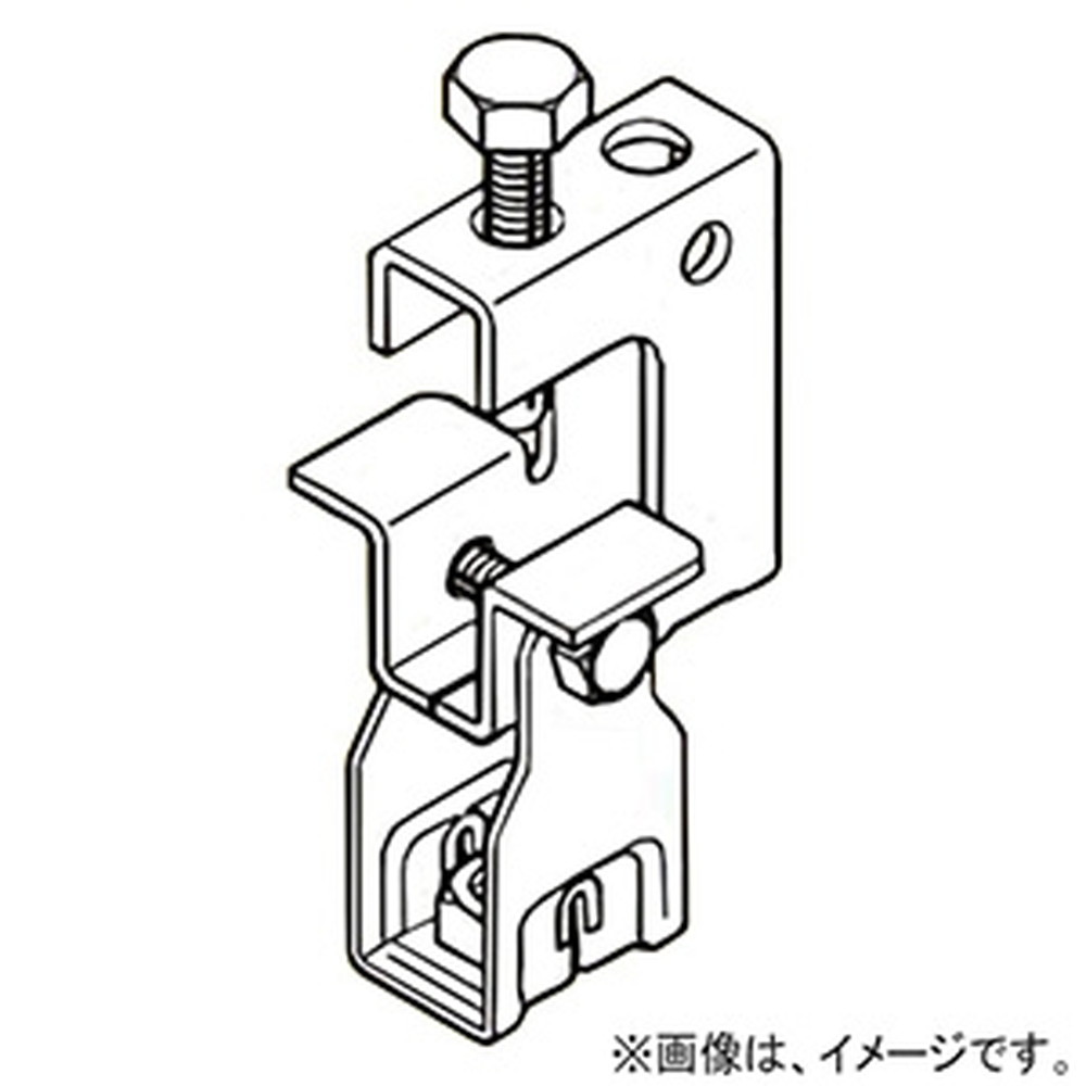 ネグロス電工 【ケース販売特価 20個セット】 一般形鋼用吊りボルト支持金具 ナット組込タイプ W1/2 フランジ厚5~30mm 電気亜鉛めっき HB25T-W4_set