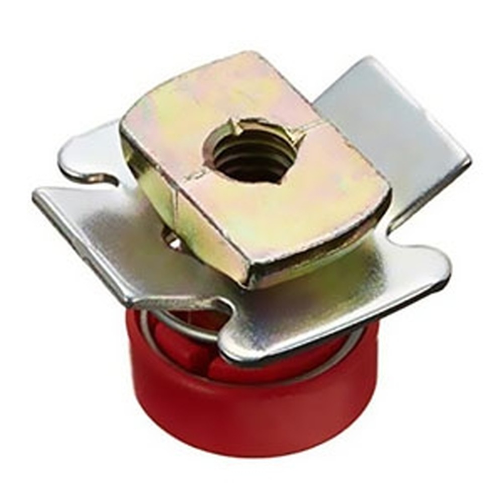ネグロス電工 【ケース販売特価 50個セット】 スーパーEデッキ用吊りボルト支持金具 許容静荷重100kgf W3/8 板厚1.2・1.6mm 赤 HB20MH-W3-R_set