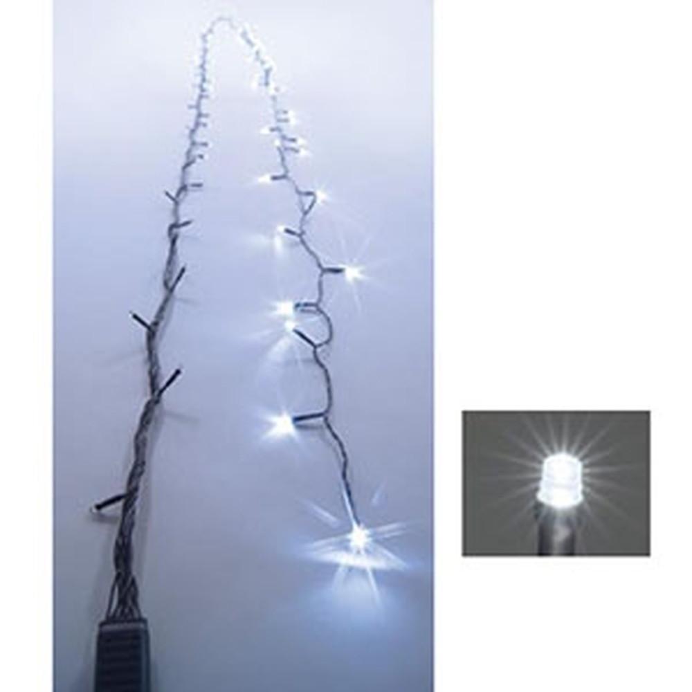 ジェフコム LEDストリングフォール AC-ACアダプタ方式 LED×128個 長さ15m 白 SJ-S05-15WW
