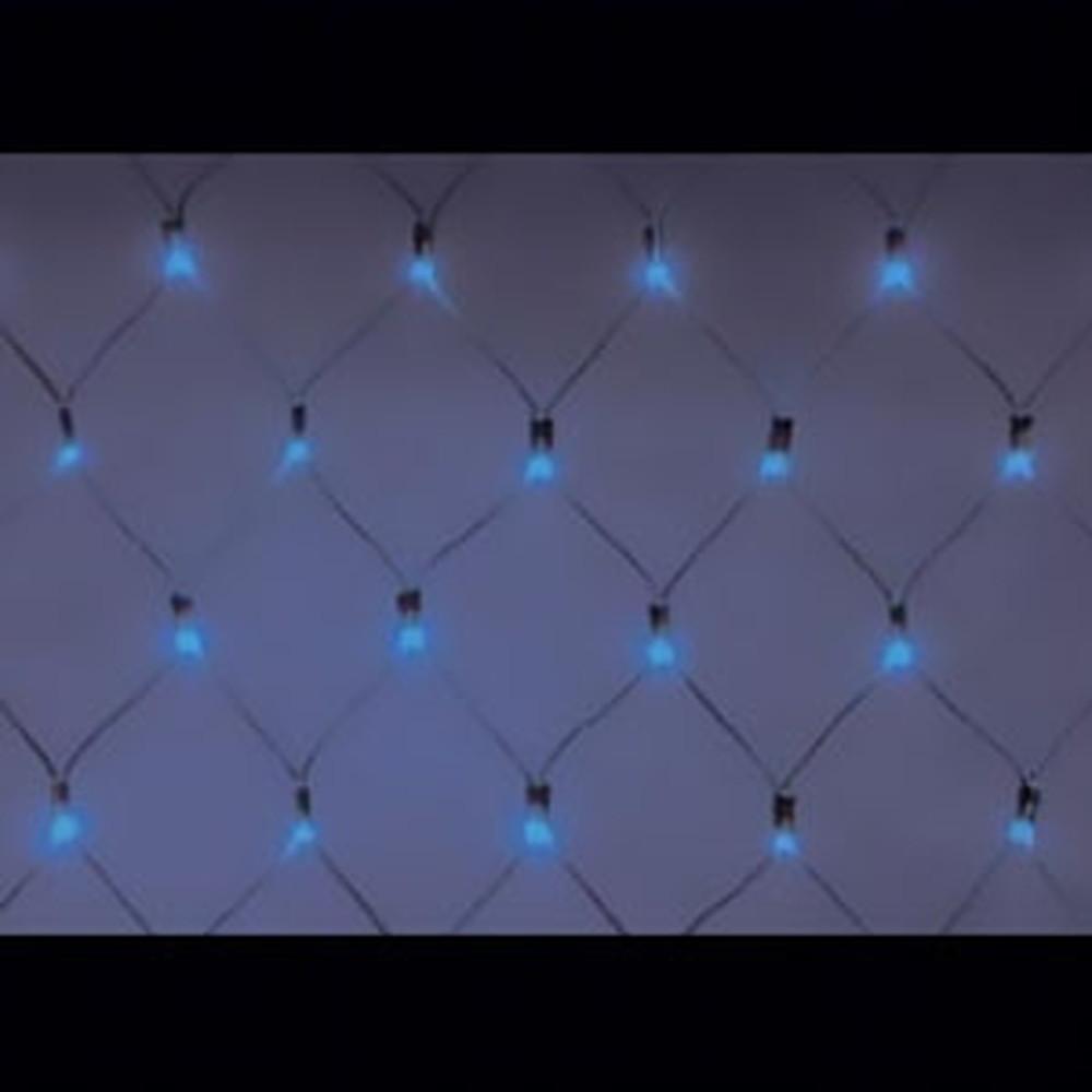 ジェフコム LEDクロスネット ハイグレードタイプ AC-ACアダプタ方式 LED×252個 サイズ2×2m 青 SJ-N20HG-BB