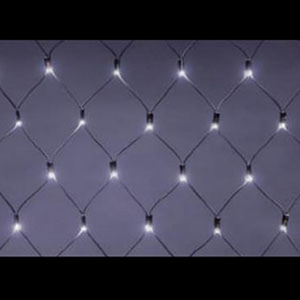 ジェフコム LEDクロスネット ハイグレードタイプ AC-ACアダプタ方式 LED×126個 サイズ2×1m 白 SJ-N10HG-WW