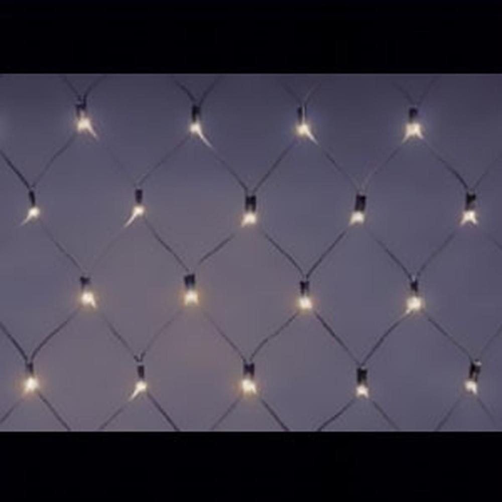 ジェフコム LEDクロスネット ハイグレードタイプ AC-ACアダプタ方式 LED×126個 サイズ2×1m 電球色 SJ-N10HG-LL