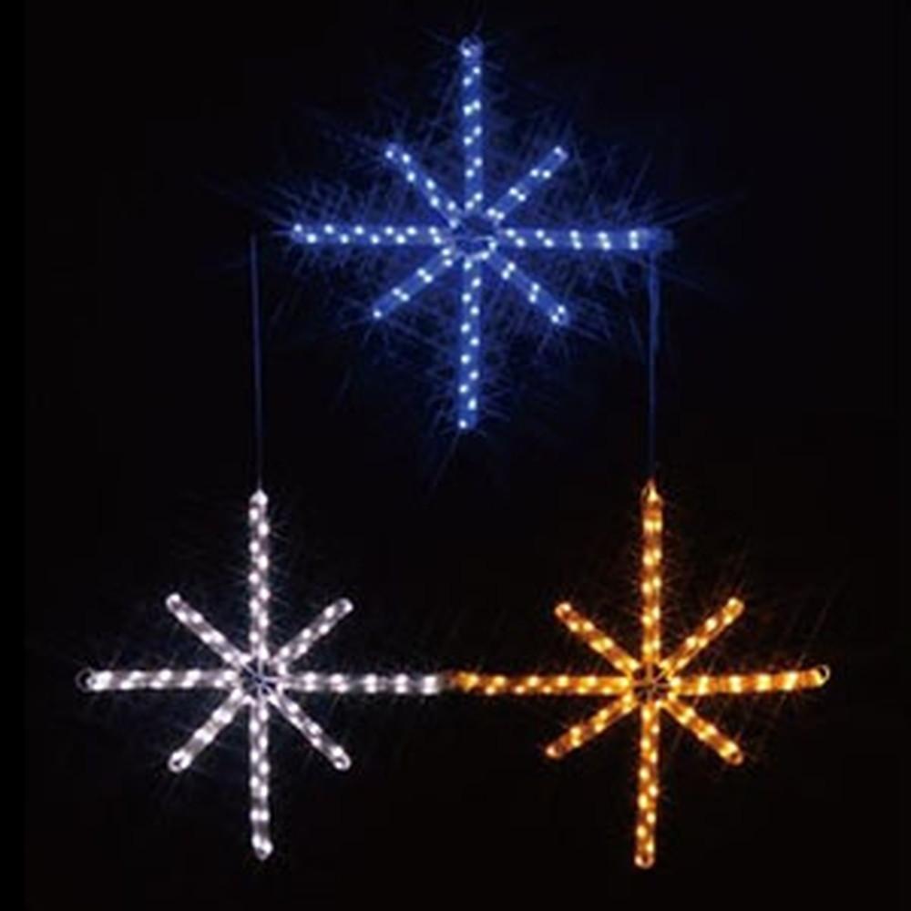 ジェフコム LEDジョイントモチーフ 《星(3個)》 全点滅タイプ AC-ACアダプタ方式 ケーブル長50cm SJ-C24-JT