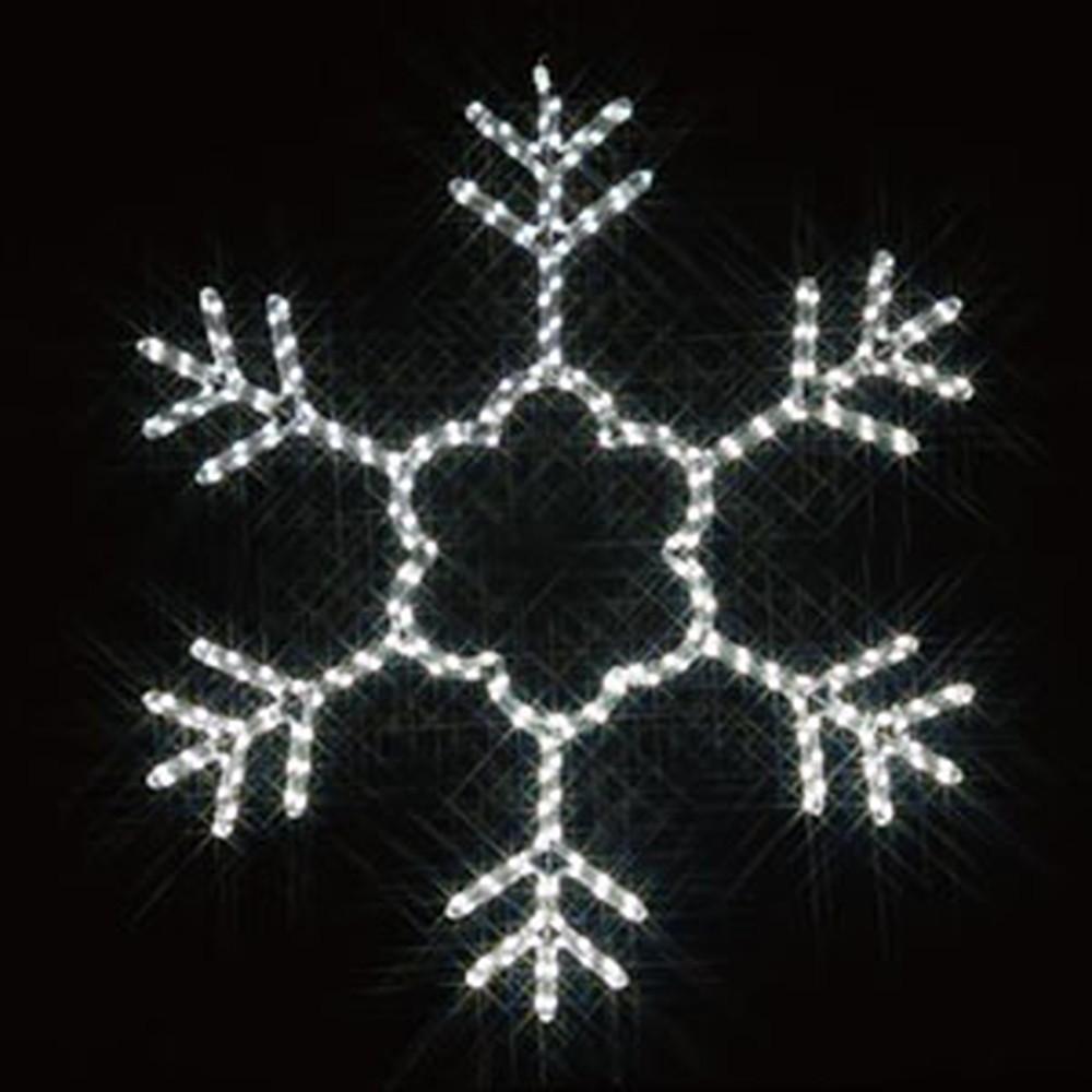 ジェフコム LEDジョイントモチーフ 《雪の結晶》 全点滅タイプ AC-ACアダプタ方式 ケーブル長50cm SJ-C200W-JT