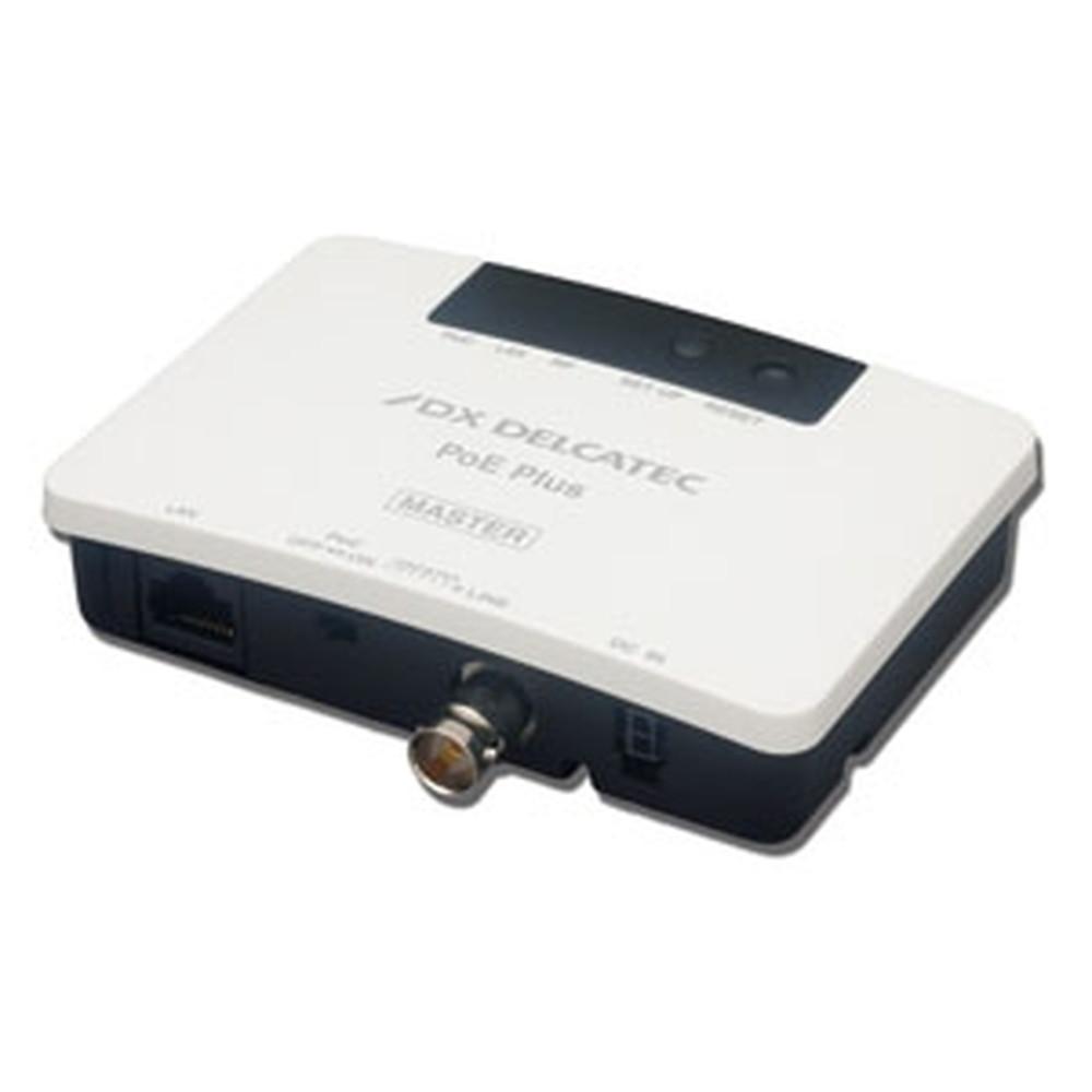 DXアンテナ 《DXデルカテック》 給電機能付IPカメラアダプター PoE対応同軸モデム マスター親機 最大通信速度240Mbps EOCP10M1
