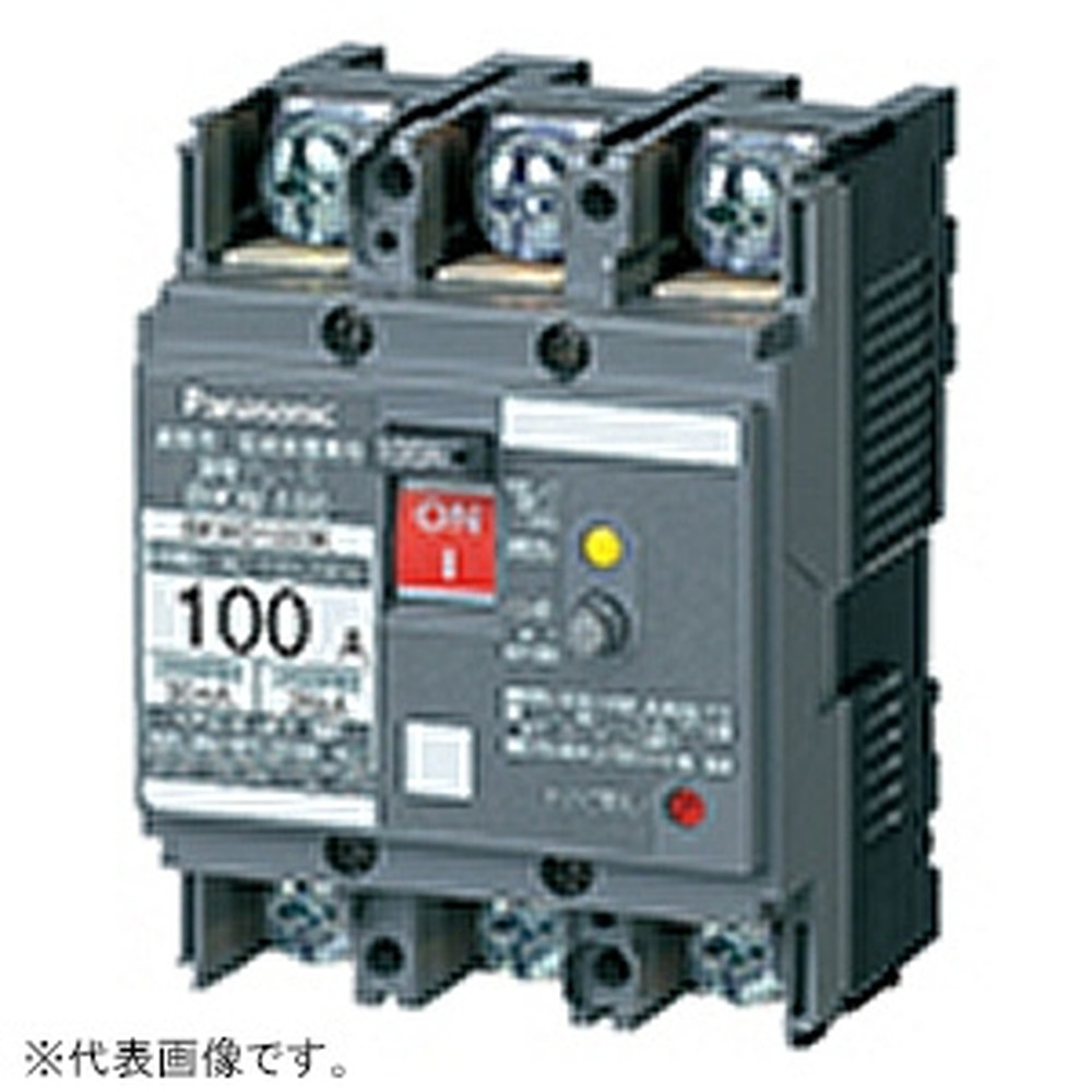 パナソニック 漏電ブレーカ BKW-100型 JIS協約形 2P2E 60A 30mA O.C付 盤用 BKW26031K