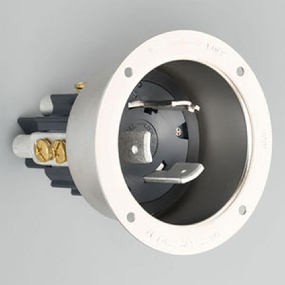 アメリカン電機 フランジインレット 引掛形 3P 100A 250V 圧着端子式 メタルケースタイプ 31025