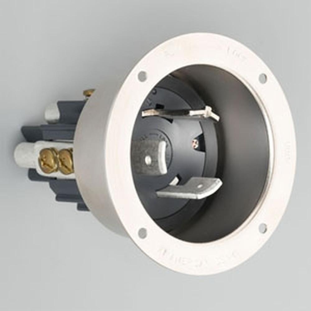 アメリカン電機 フランジインレット 引掛形 3P 100A 600V 圧着端子式 メタルケースタイプ 31065