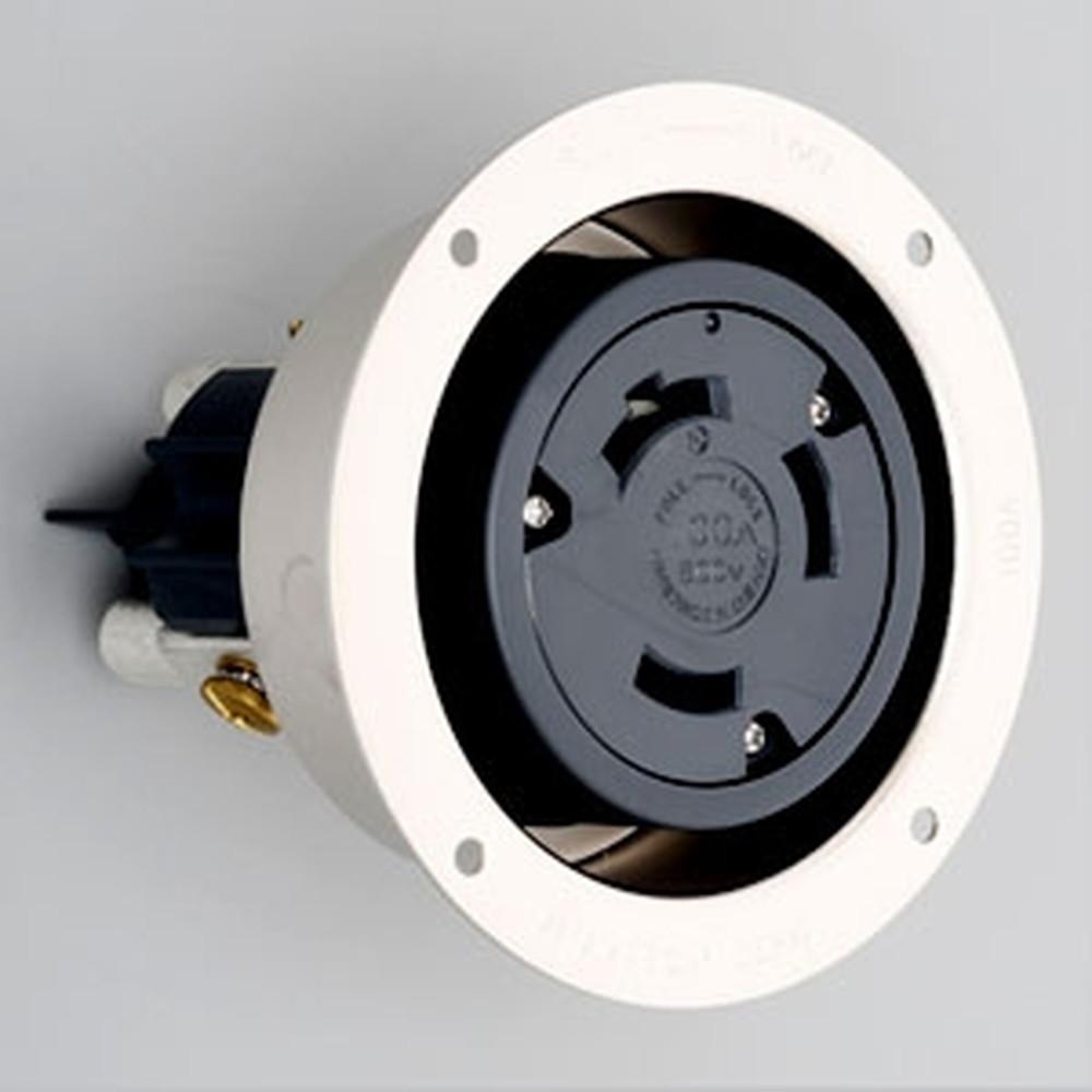 アメリカン電機 フランジコンセント™ 引掛形 3P 100A 600V 圧着端子式 31066