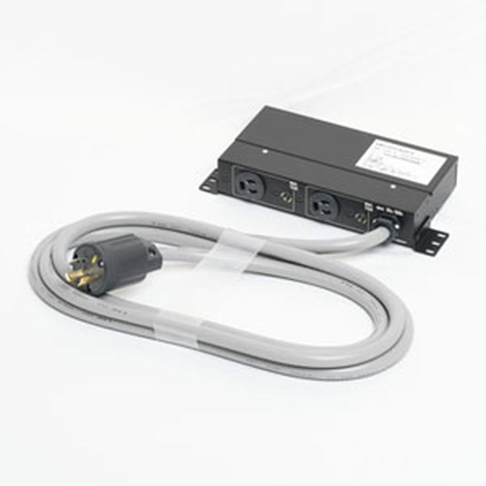 アメリカン電機 コンセントバー 分岐用 抜止形・2ヶ口 接地形2P 30A 125V 30A(NEMA L5-30)入力プラグ 15Aサーキットプロテクター2ヶ付 HKC0540PT