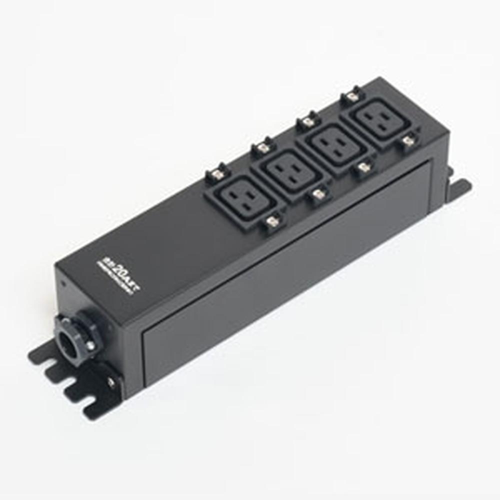 アメリカン電機 コンセントバー IEC C-19・4ヶ口 接地形2P 20A 250V 圧着端子式 HKC0905