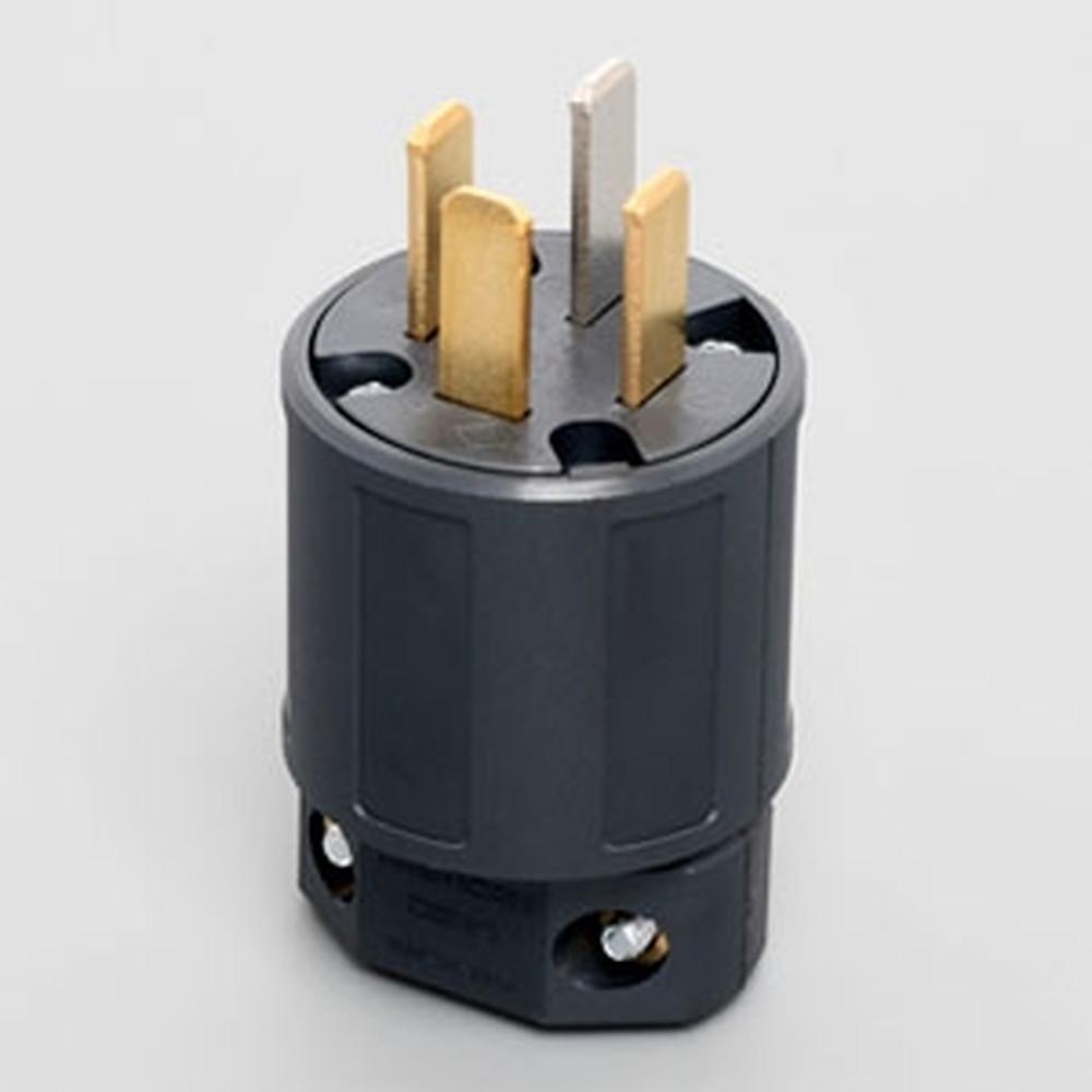 アメリカン電機 さし込みプラグ 平刃形 接地形3P 20A 250V 圧着端子式 ナイロンカバータイプ 9222N