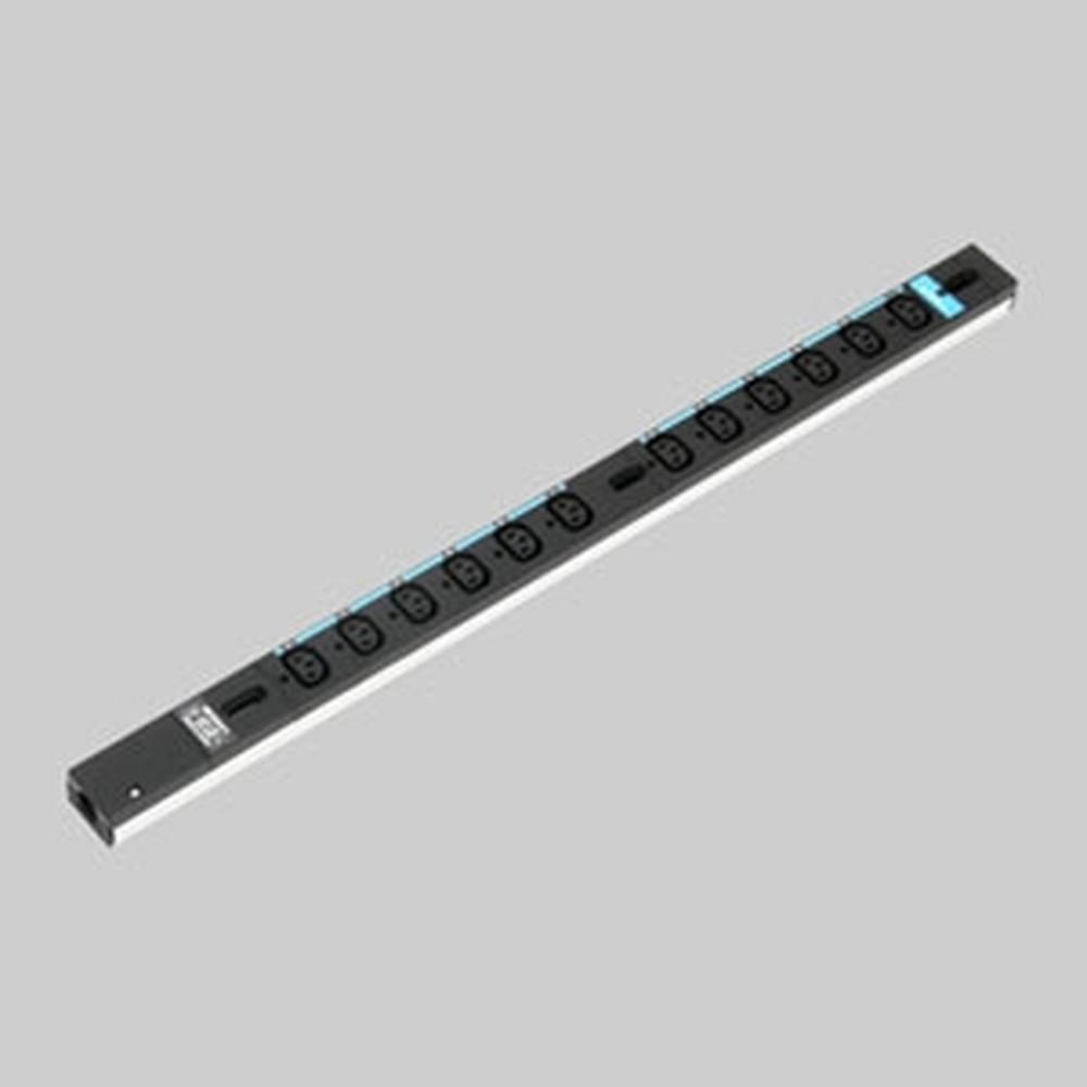 アメリカン電機 0Uコンセントバー スリムタイプ IEC C-13・12ヶ口 接地形2P 20A 250V 圧着端子式 15A安全ブレーカ2ヶ付 HA9120S