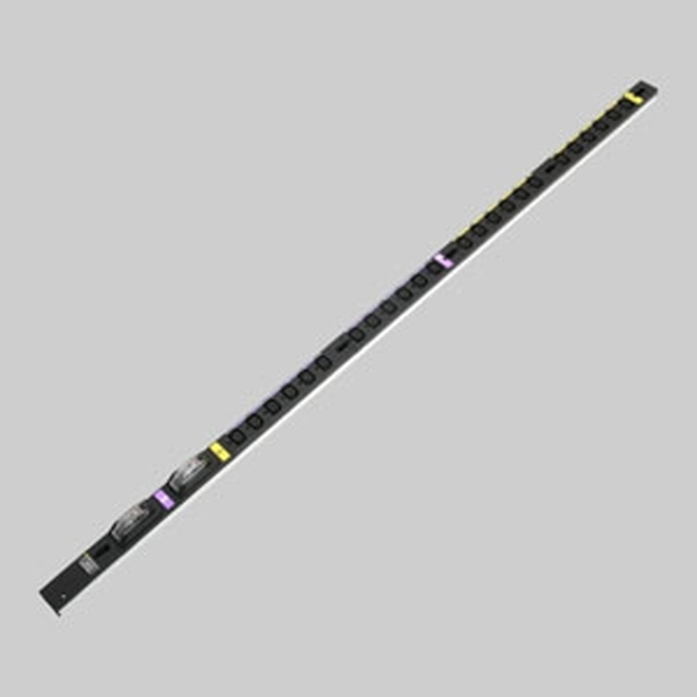 アメリカン電機 0Uコンセントバー スリムタイプ IEC C-13・24ヶ口 接地形2P 30A 250V 圧着端子式 20A安全ブレーカ2ヶ付 HA9242S
