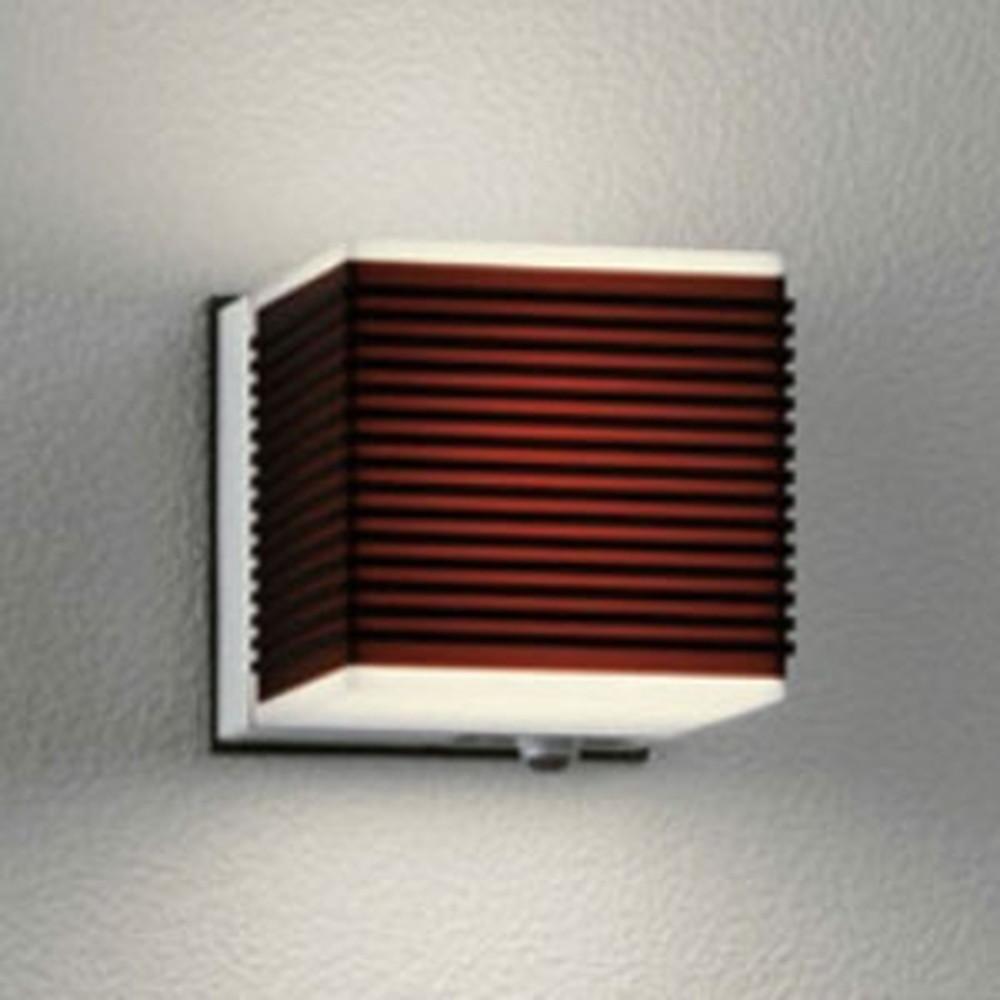 オーデリック LEDポーチライト 防雨型 白熱灯40W相当 電球色 人感センサ付 ダークブラウン OG041726LC