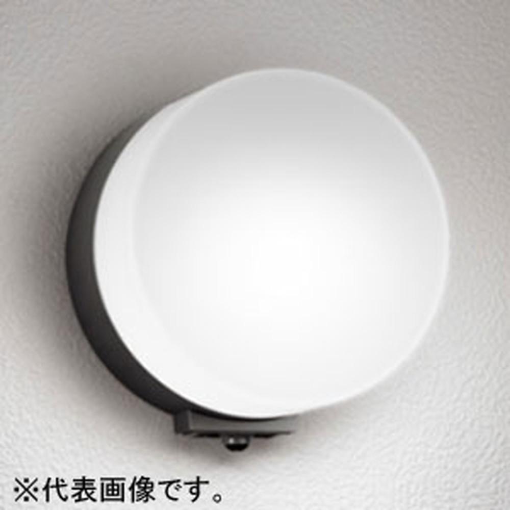 オーデリック LEDポーチライト 防雨型 壁面取付専用 白熱灯60W相当 電球色 人感センサ付 黒 OG254399LC