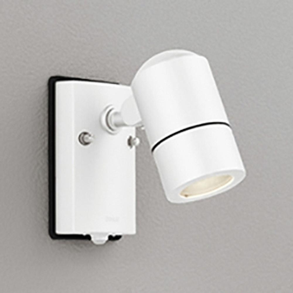 オーデリック LEDスポットライト 防雨型 白熱灯50W相当 電球色 人感センサ付 オフホワイト OG254566LD