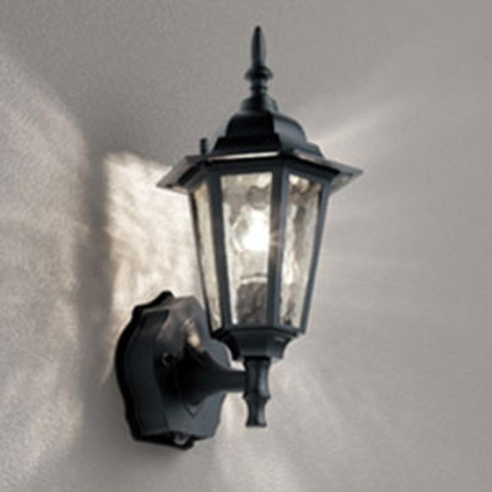オーデリック LEDポーチライト 防雨型 白熱灯40W相当 電球色 人感センサ付 黒 OG254633LC