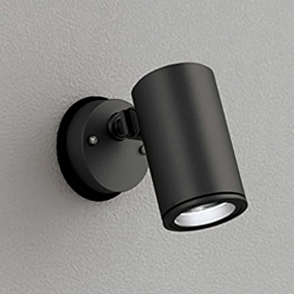 オーデリック LED一体型スポットライト COBタイプ 防雨型 壁面・天井面取付兼用 ビーム球150W相当 電球色 ワイド配光 ブラック OG254344