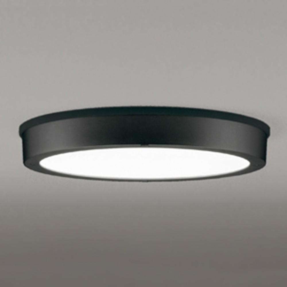 オーデリック LEDシーリングダウンライト 《FLATPLATE》 防雨型 軒下取付専用 FCL30W相当 電球色 ブラック OG254810