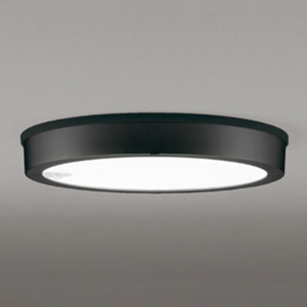オーデリック LEDシーリングダウンライト 《FLATPLATE》 防雨型 軒下取付専用 FCL30W相当 昼白色 人感センサ付 ブラック OG254815