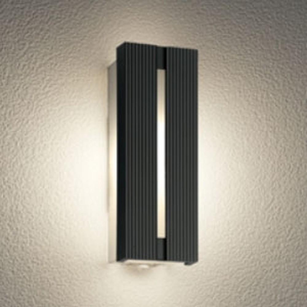 オーデリック LEDポーチライト 防雨型 電球色 人感センサ付 黒 OG254743LC