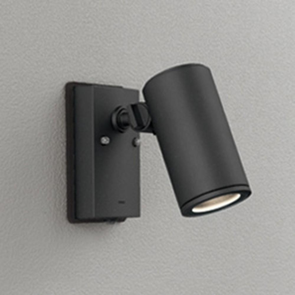 オーデリック LED一体型スポットライト COBタイプ 防雨型 JDR75W相当 電球色 ワイド配光 人感センサ付 ブラック OG254549P1