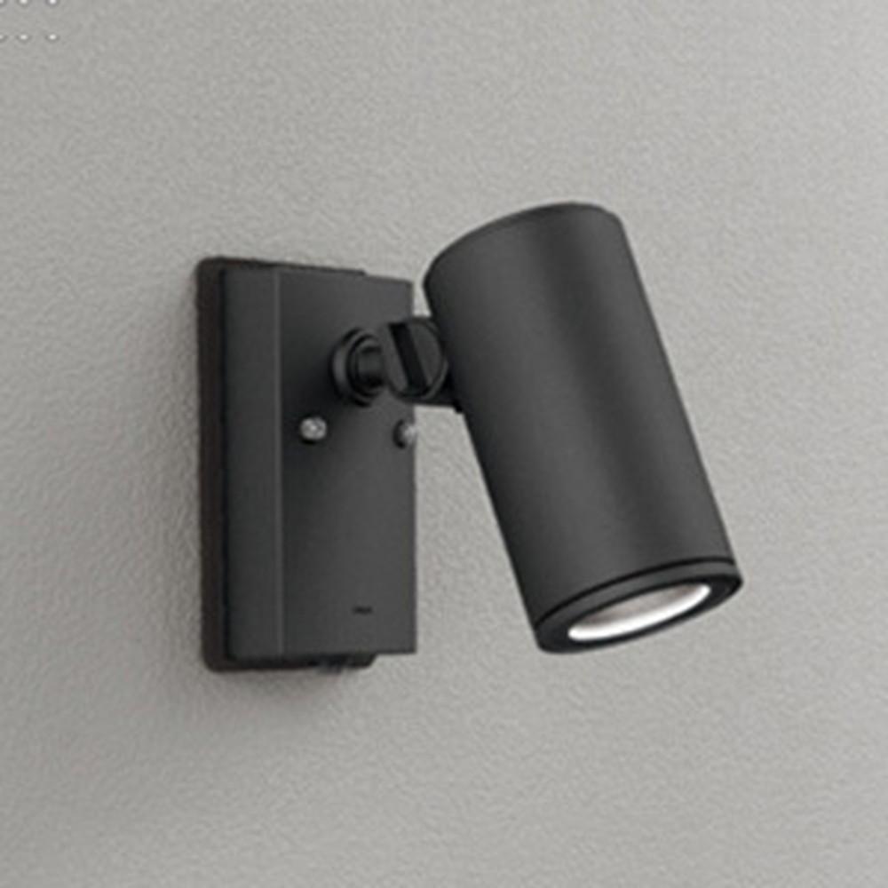 オーデリック LED一体型スポットライト COBタイプ 防雨型 JDR75W相当 昼白色 ワイド配光 人感センサ付 ブラック OG254725P1