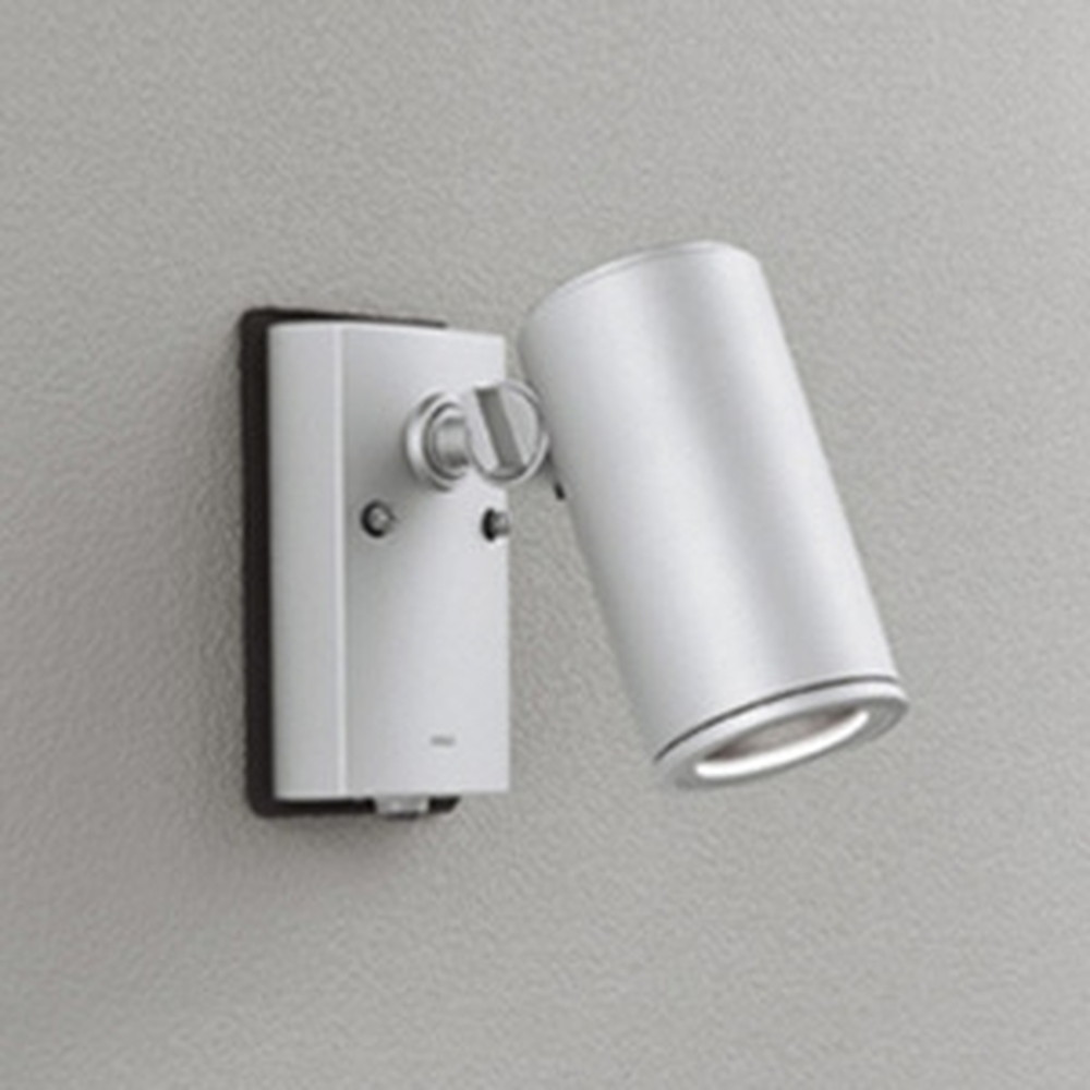 オーデリック LED一体型スポットライト COBタイプ 防雨型 JDR75W相当 昼白色 ワイド配光 人感センサ付 マットシルバー OG254726P1