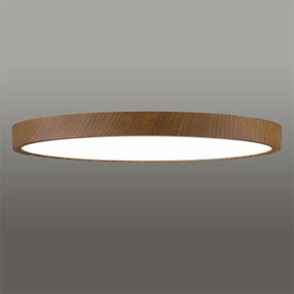 オーデリック LEDシーリングライト 《FLAT PLATE》 ~12畳用 電球色~昼光色 調光・調色タイプ Bluetooth®対応 木調ウォールナット色 OL291421BC