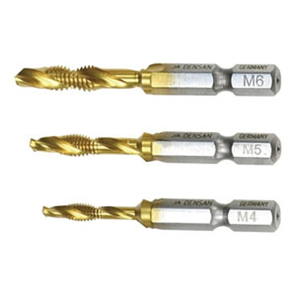 ジェフコム タップ&ドリルセット 正逆回転機構付ドリル専用 サイズM4・M5・M6 3本セット TPD-T456RH