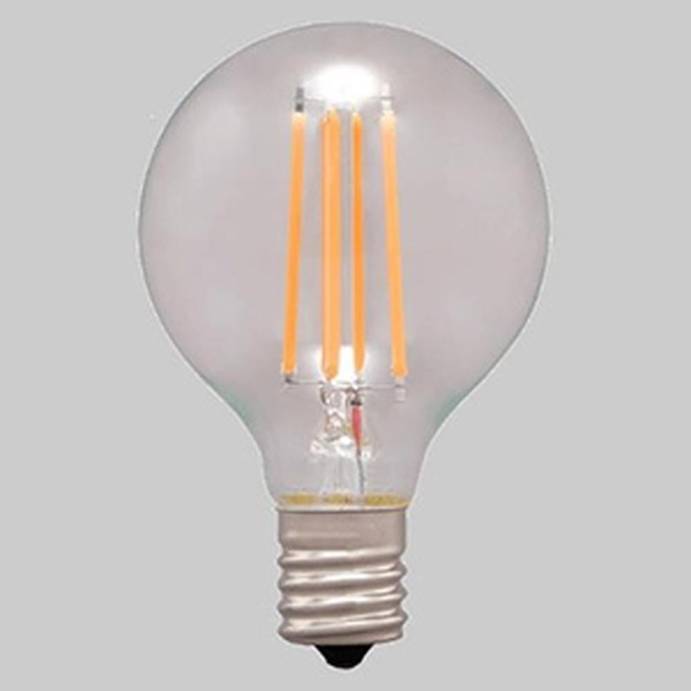 アイリスオーヤマ 【ケース販売特価 24個セット】 LEDフィラメント電球 ミニボール電球タイプ ボール電球40形相当 全方向タイプ 密閉形器具対応 電球色 E17口金 LDG4L-G-E17-FC_set